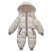 Brand New Baby Down Snowsuits Hooded Jumpsuit Boys Girls Winter Overalls Kids Coats Clothes Newborn Thicken Rompers Outerwear