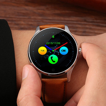 Hot Sale K88H Smart Watch 1.22″ IPS Round Touch Screen with Heart Rate Monitor MTK2502 CPU 300Mah Battery Bluetooth SmartWatch