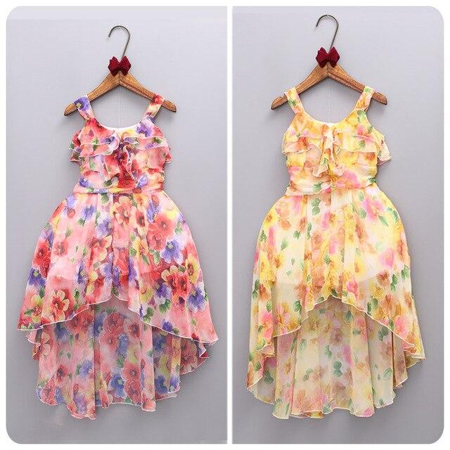 2016 Summer Korean Children's Garment Six One New Pattern Girl Baby Shivering Irregular  Camisole Skirt Sy Beach