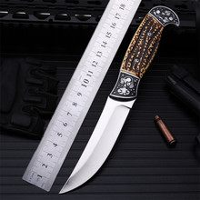New Rushed Navajas Outdoor Self-defense Field High Hardness Saber Wilderness Survival Fruit Knife Small Straight Folding Whales stenzhorn new outdoor self defense field high hardness small straight knife wilderness survival of folding fruit quality goods