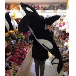 51 ''Giant Big Simulazione Black Shark Killer Whale Peluche Giocattolo Farcito Bambola Animale di Cotone Giocattolo Giocattoli Per I Bambini Giapponesi peluche