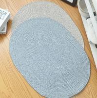 Nordic style Design Bohemia Kilim Oval Blue Beige 100% cotton Living room Carpet Indian Rug Modern Mat contemporary rug