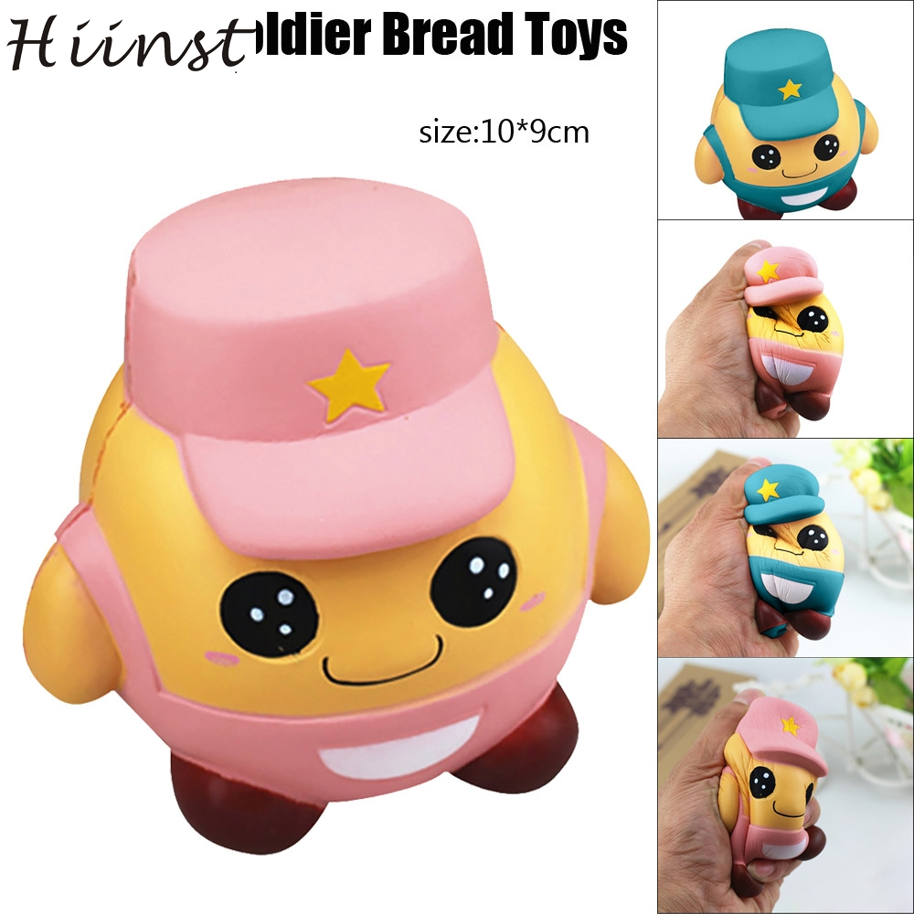 HIINST funny toys 2017 squishy Soldier Bread Phone Straps squishy slow rising Bun Charms Gifts Toys *R Drop