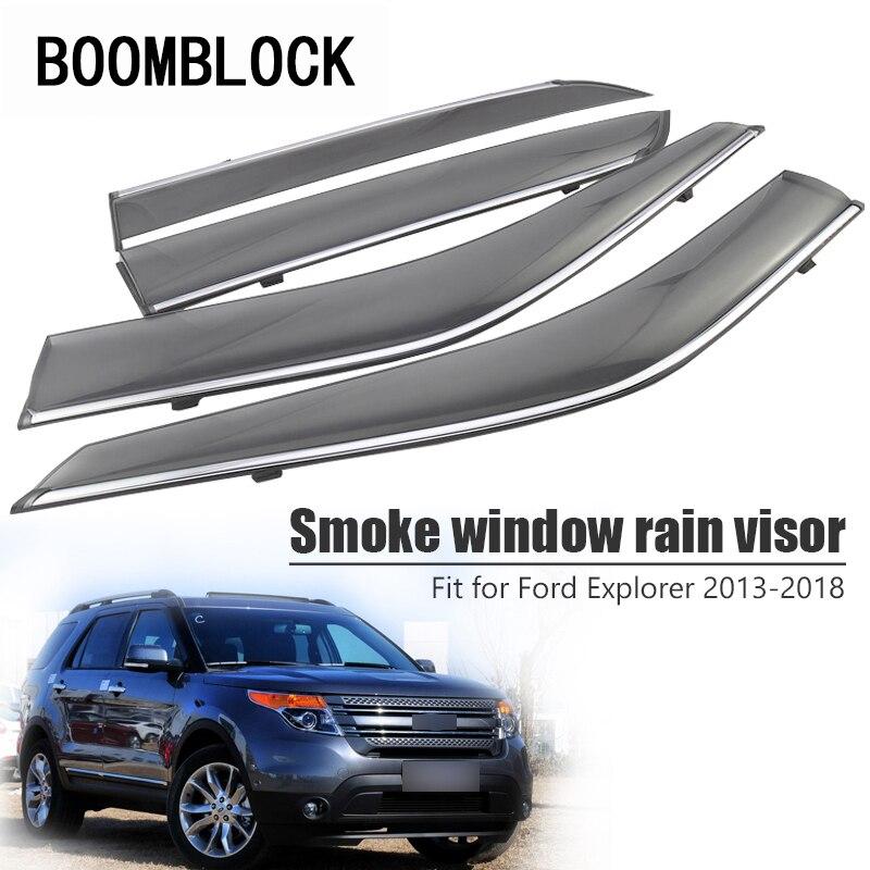 High Quality 4pcs Smoke Window Rain Visor For Ford Explorer 2018 2017 2016 2015 2014 2013