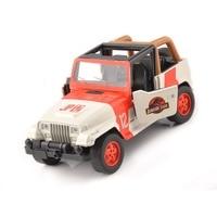 Cheap kids toys 1/32 Alloy Diecast Jeep Wrangler Jurassic Park 1/32 Scale Orange/White Diecast car model toys Children Gift