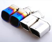 Stainless Steel 1pcs Tail End Pipe Exhaust Muffler Tip For Skoda Octavia MK3 A7 2015 2016