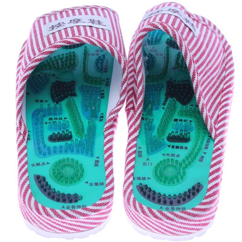 Gesundheit Pflege Schuh Fußmassage Hausschuhe Reflexzonenmassage Magnetische Sandalen Akupunktur Gesunde Füße Massager Sorgfalt Magnet Schuhe MP0036