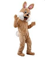 Marrone caffè Coniglio Costume Della Mascotte Costume Della Mascotte per adulti natale Halloween Outfit Fancy Dress Suit Spedizione Gratuita