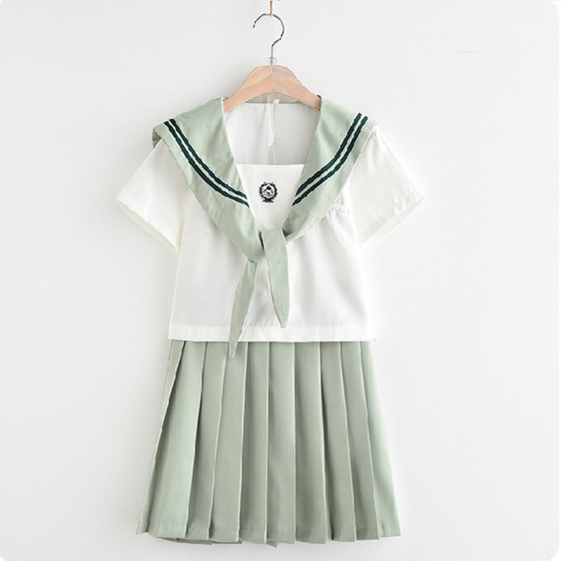 2019 New Japanese School Girl Uniforms Sailor Set Navy Ntyle Students Clothes For Cosplay S XXL Cute Class Uniform in School Uniforms from Novelty Special Use