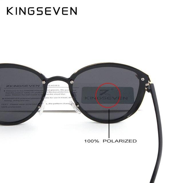KINGSEVEN Fashion Female Polarized Sunglasses Women Cat Eye Glases Ladies Sun Glasses Mirror Original Accessories oculos de sol