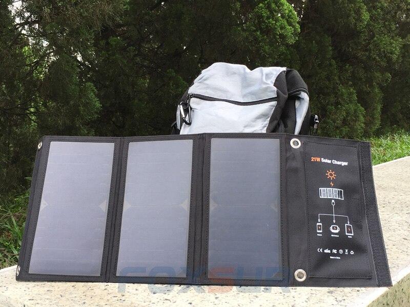 21 w saco dobrável solar ao ar