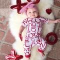 Baby Boys Romper Cotton Short Sleeve Letter Clothes Infant Onesie Size 0-24M