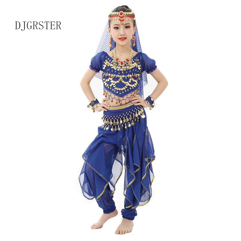 DJGRSTER Kids Girl Children Belly Dance Costume Coin ...