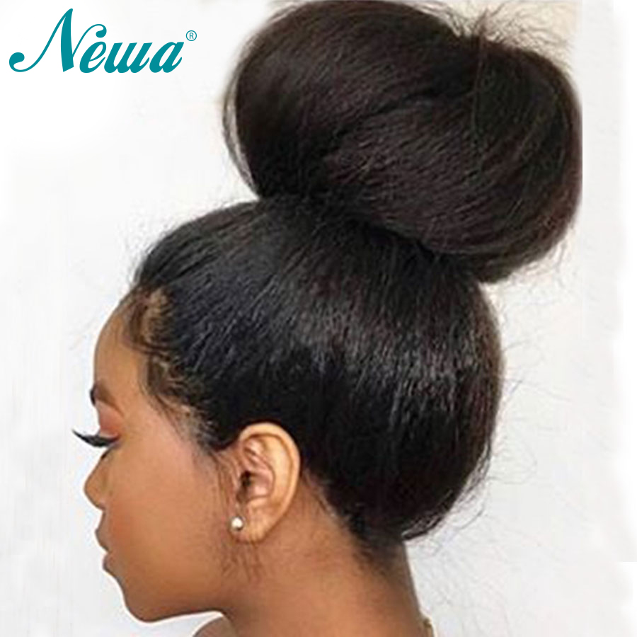 Newa Hair Lace Front Human Hair Wigs Pre Plucked With Baby Hair Kinky Straight Brazilian Remy