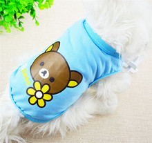FG04 2016 new product Dog Summer cotton vest Pet Clothes summer dog Clothing FREE shipping