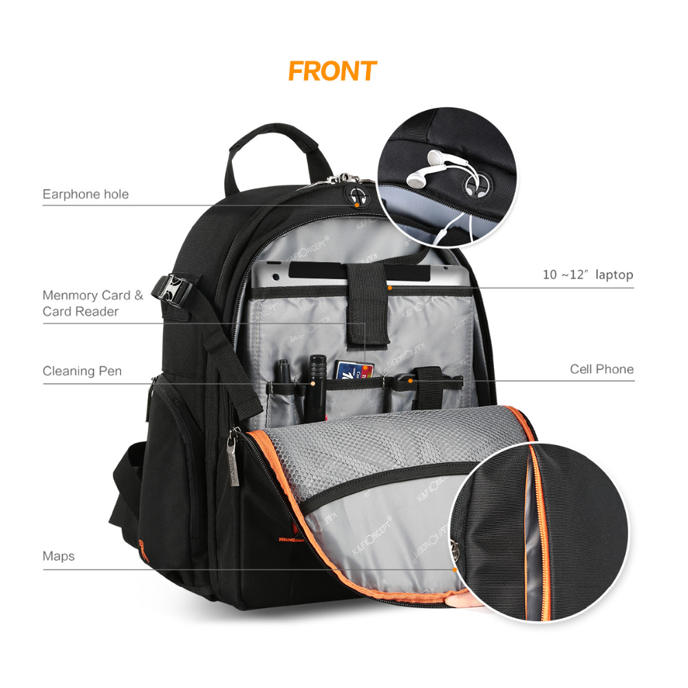 High quality Waterproof multi functional Digital DSLR Camera Video Bag Small SLR Camera Bag for Photographer-in Camera/Video Bags from Consumer Electronics    3