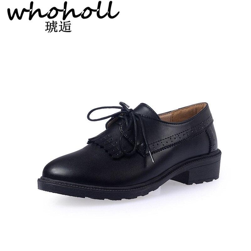 9acdbbdb5b Oxford Hasta Mujer Beige De Zapatos Retro Nuevo Suave Estilo Mujeres Las  Británico Planos Casuales negro ...