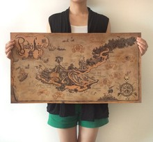 """""""Retro vintage poster Kraft paper""""""""The  Pirate den Map"""""""" 72.5x38cm home decor painting wall art craft sticker"""" DT-020"""