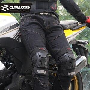 Image 2 - オートバイ膝パッドガードキュイラッシェ肘レースオフロード保護ニーパッドモトクロスブレースプロテクターバイク保護