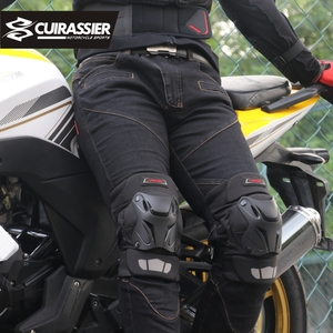 Image 2 - Motorcycle Knee Pads Guards Cuirassier Elbow Racing Off Road Protective Kneepad Motocross Brace Protector Motorbike Protection