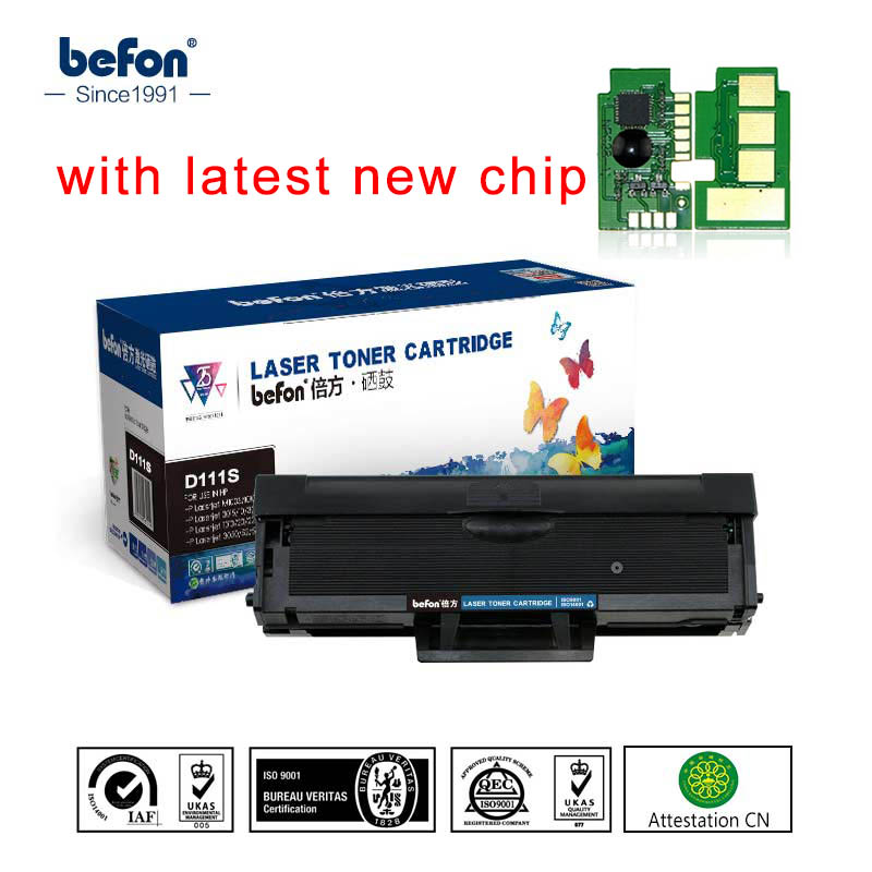 Befon d111 mlt d111s 111 cartucho de toner compatível para samsung xpress m2070 m2070fw m2071fh m2020 m2020w m2021 m2022 wich chip