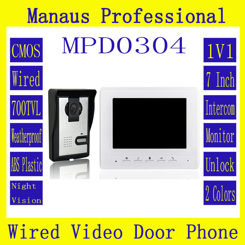 High Quality Remote Control Video Door Intercom 7 Inch Digital Color LCD Monitor Outdoor Waterproof IR Night Vision Camera D304b new original ifs204 door proximity switch high quality