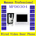 High Quality Remote Control Video Door Intercom 7 Inch Digital Color LCD Monitor Outdoor Waterproof IR Night Vision Camera D304b