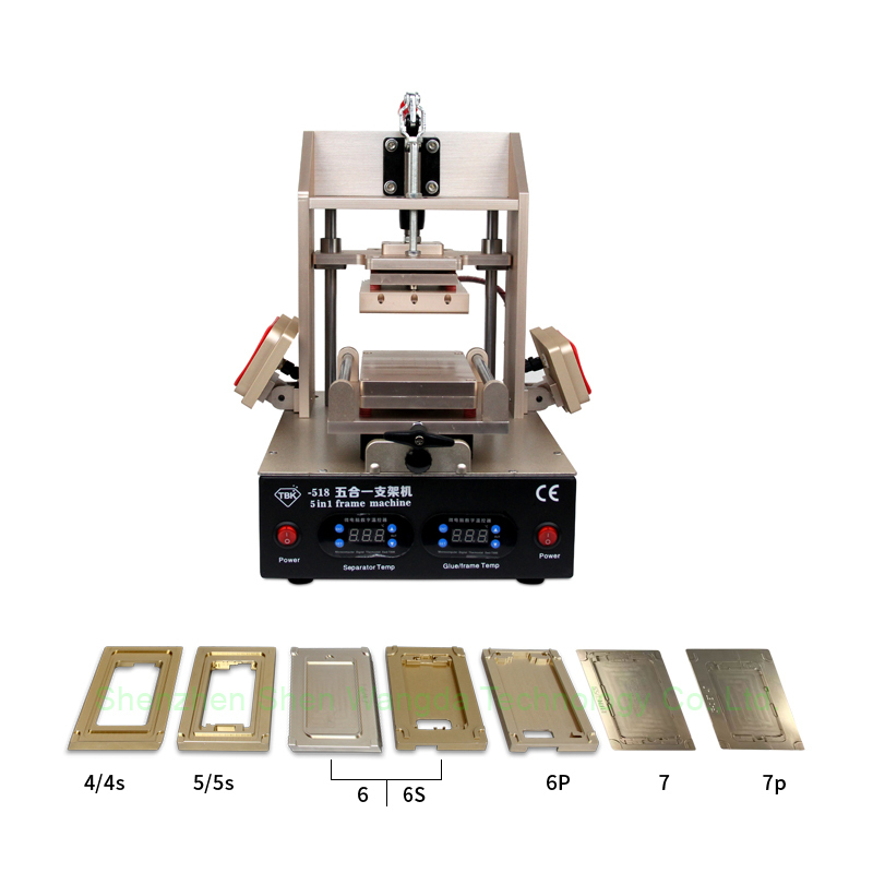 Hot TBK-518 Separate LCD Screen & Frame And Remove Glue/Polarized Machine With Multifunction For iphone 7 6S 5 samsung Repairing 10 pcs front lcd frame with hot melt glue for iphone 6s 4 7 inch touch screen bracket housing middle bezel white black
