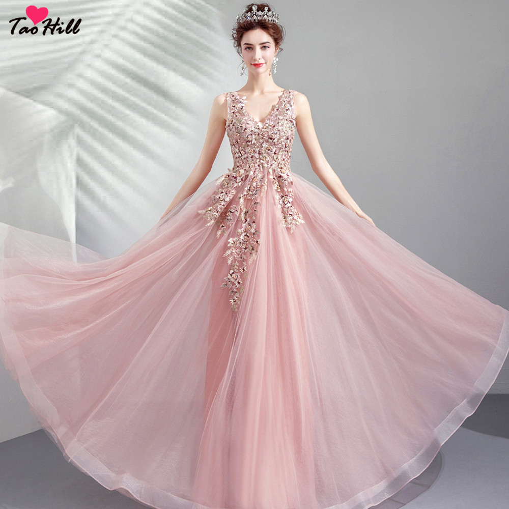 TaoHill Real Made 2019 Lady Wedding Guest Dress Floral