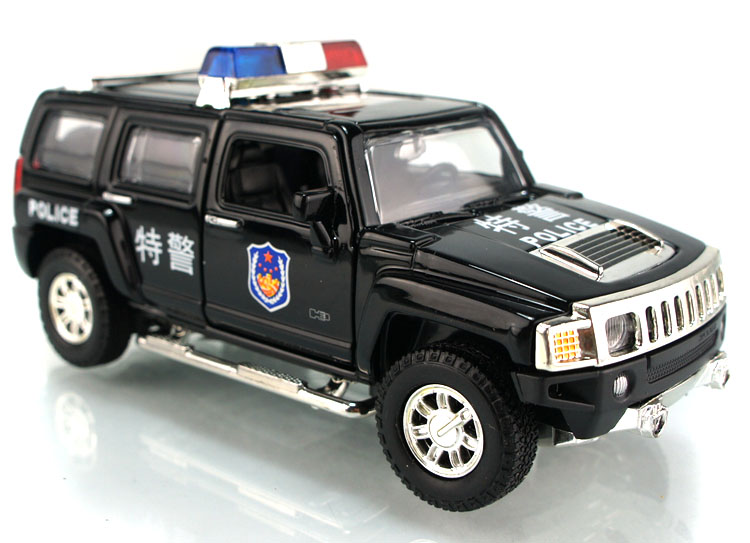 1:32Alloy car police car toy police car hummer H3 cop car models kid toys for Childrens Day new year gift ornaments