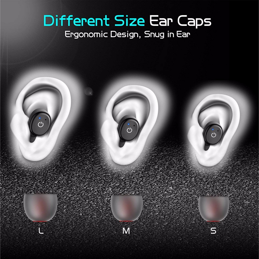 Bluetooth Earbud Wireless Mini Waterproof Single Earpiece Car Headset Invisible Earphone with Magnetic USB Charger in Bluetooth Earphones Headphones from Consumer Electronics