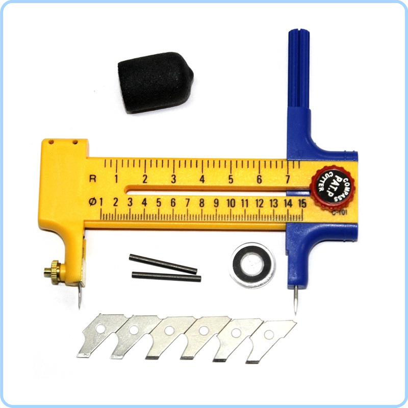 Students Handmade Cutting Round Utility Knife Cutting Round Compass Knife School Office Cutting Supplies