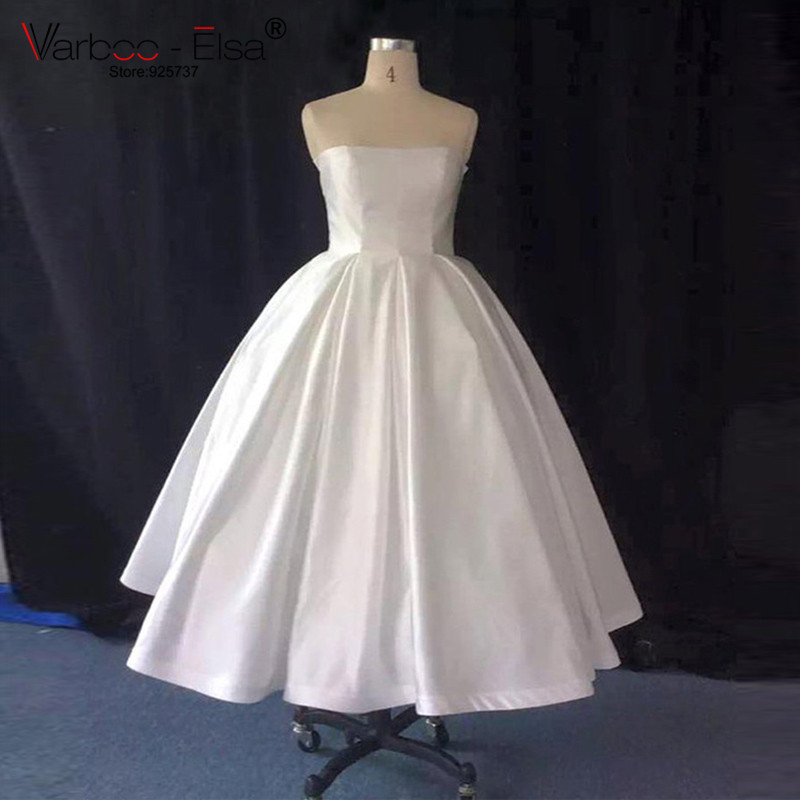Aliexpress.com : Buy vestiti da sposa donna simple short wedding ...