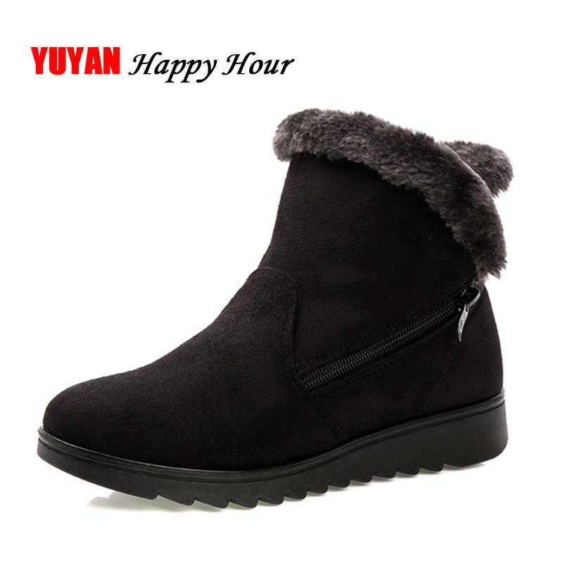 Новинка 2018 г. зимние ботинки Для женщин теплые сапожки для холодной зимы  плюшевые Для женщин 9cf2aa020f4