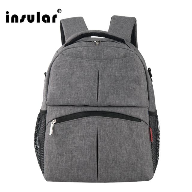 2017 New Style Shipping Free Solid Color Baby Diaper Bag Backpack Multifunctional Mommy Bag Backpack Waterproof Nappy Backpack