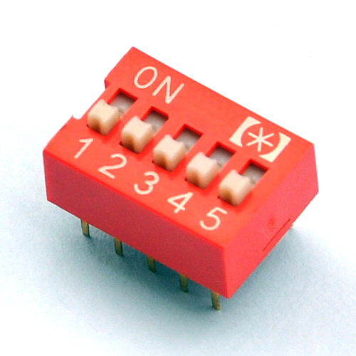 ( 10 Pcs/lot ) 5 Way DIP Switch, 5 Position 10 Pin PCB Mountable.
