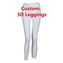 16444730513 Fashion Women Legging Personality 3D Print Leggings Customize Push Up  Elastic Fitness Slim Trousers DropShipping Wholesalers