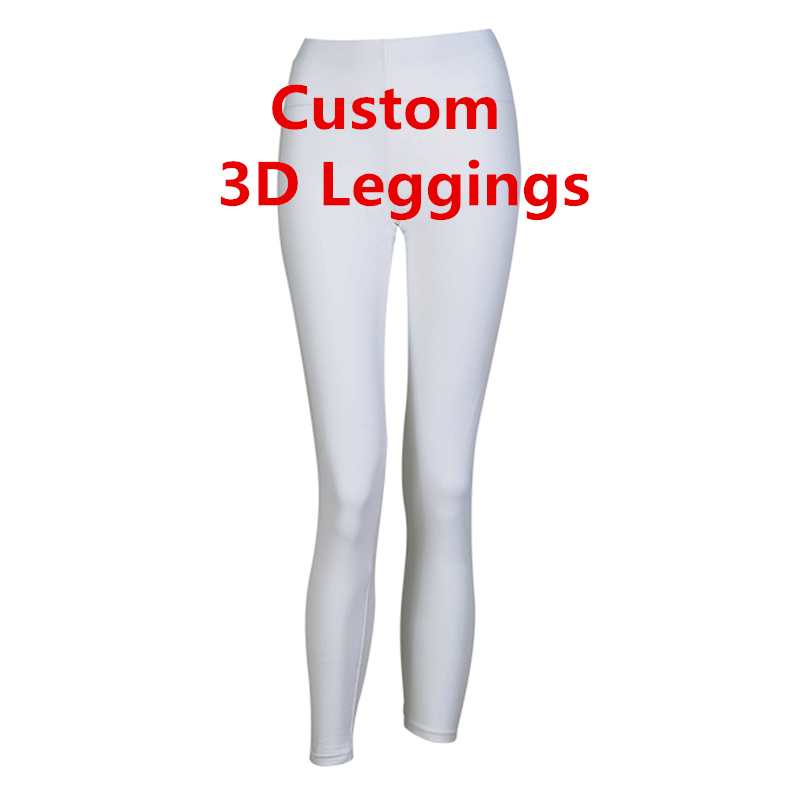 Fashion Women   Legging   Personality 3D Print   Leggings   Customize Push Up Elastic Fitness Design Trousers DropShipping Wholesalers
