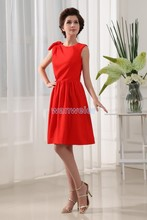free shipping 2014 new design red prom brides maid dresses short high quality sexy real dress picture Bridesmaid Dresses