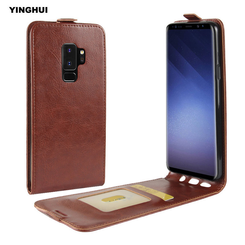 """YINGHUI For Samsung Galaxy S9 Plus 6.2"""" Vertical Silicone Protective Shell Flip Cover S9+ Crazy"""