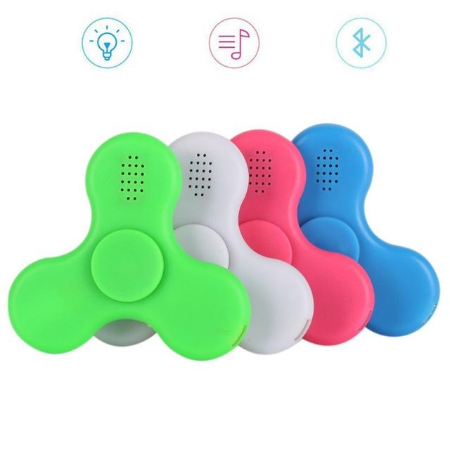 Mini Bluetooth Music Fidget Spinner LED Light