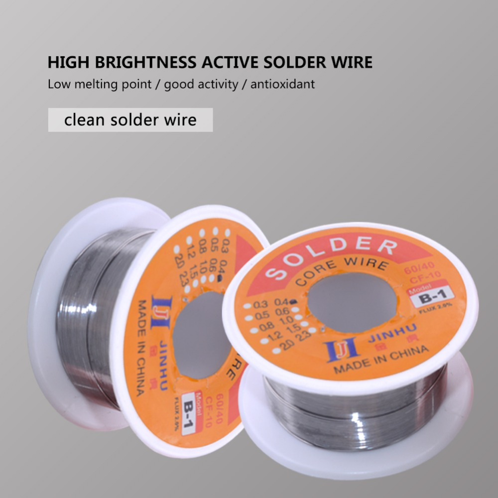Solder Wire 0.3/0.4/0.5/0.6/0.8/1.0mm Diam 60/40 63/37 Clean Rosin Core Welding Tin Lead Solder Iron Wire Reel Soldering Tools