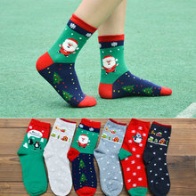 Christmas series socks new ladies Santa cotton