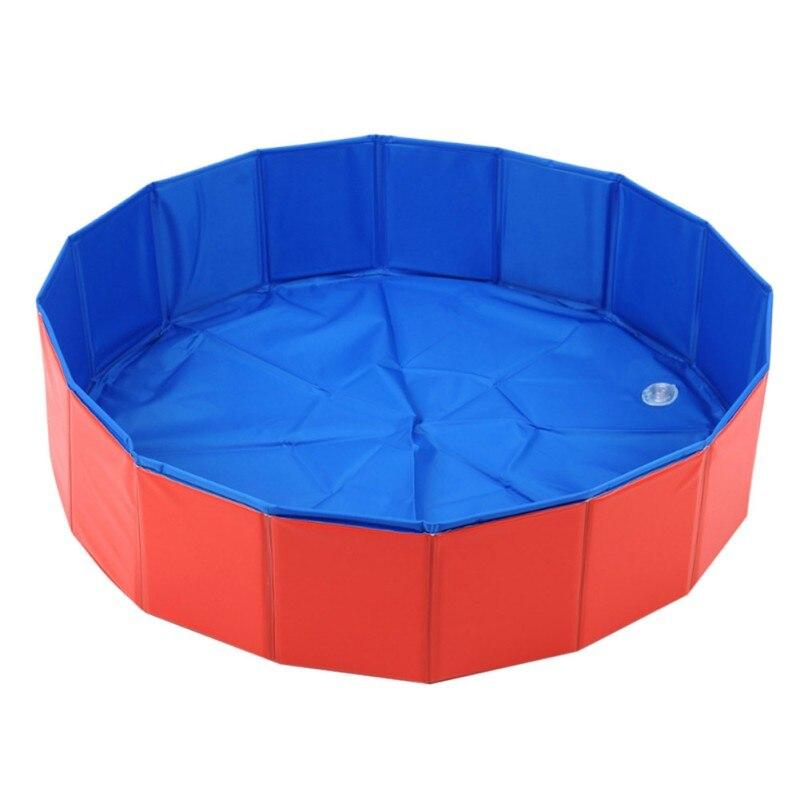 Fuloon PVC Portable pliable chien chats baignoire lavage Pet piscine 80*20 cm