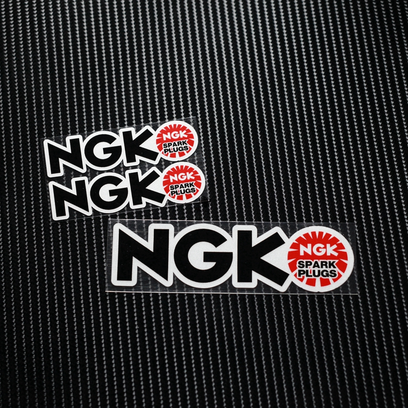 NO.TP039 MOTO GP SBK NGK Reflective Car Sticker Decals Motorcycle Racing Stickers Motorbike stickers Helmet Windshield ATV ngk br8hs