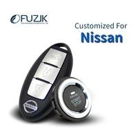 Fuzik Keyless Go Smart Key Keyless Entry Push Remote Button Start Car Alarm for Nissan Quest Geniss Teana Fairlday Bluebird
