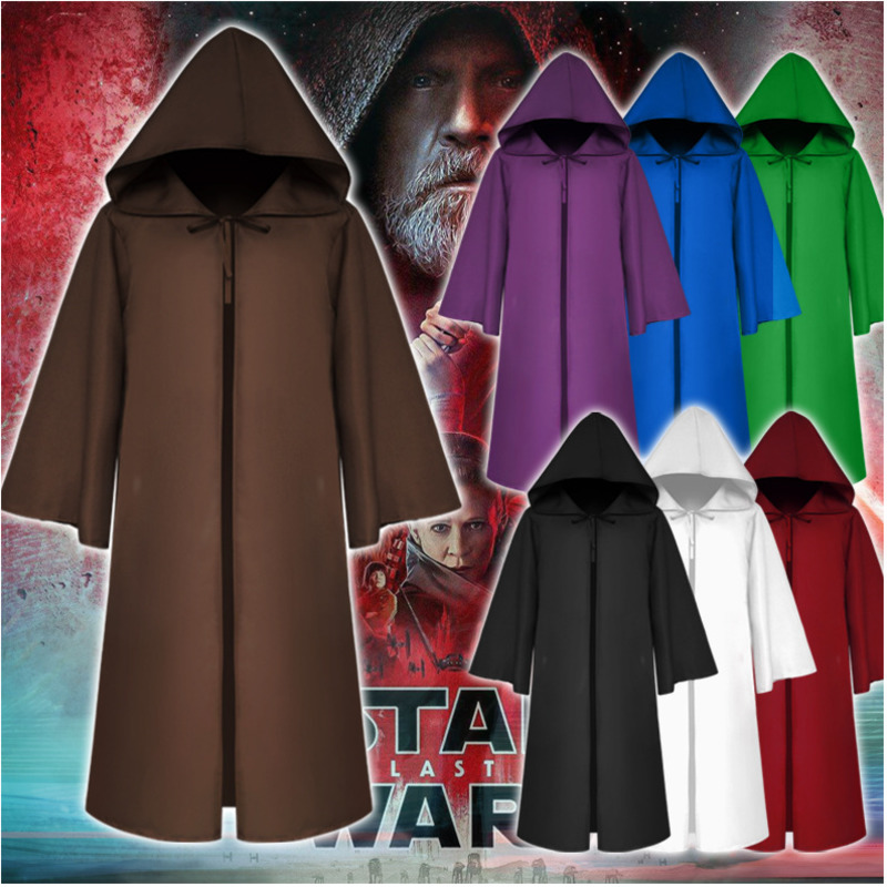 Newest Long Hooded Cloak Adult Halloween Christmas Party Role-playing Long Cloak