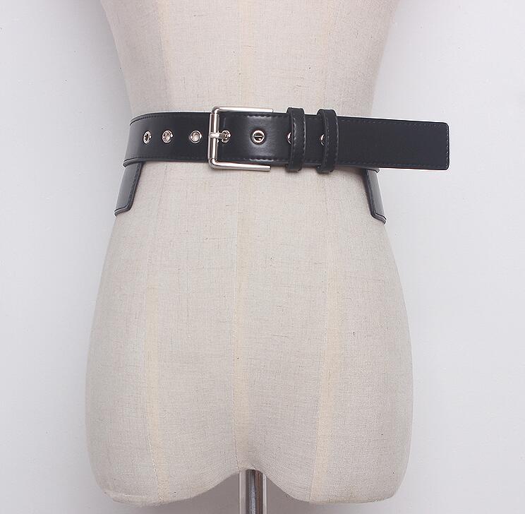 Women's Runway Fashion PU Leather Cummerbunds Female Dress Corsets Waistband Belts Decoration Wide Belt R1631