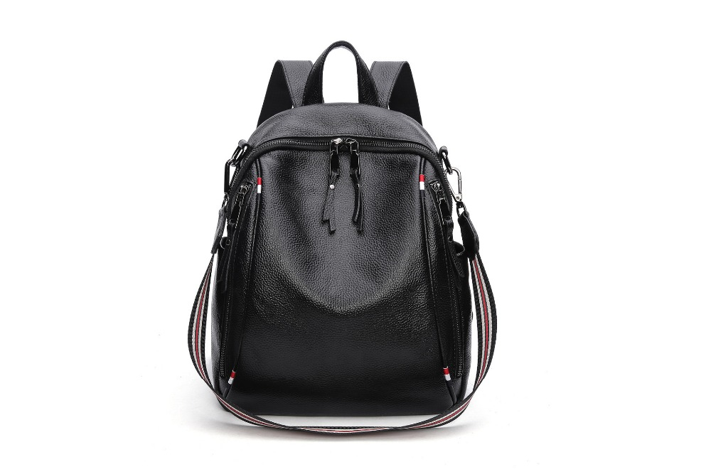 Amasie Women Multifunction Backpack leather Shoulder Bag Large Capacity Backbag Female Zipper School Bag Girl Travel Bag EGT0214 amasie shoulder bag women s bag genuine leather large capacity fashion backbag leisure bag for girl wed0016