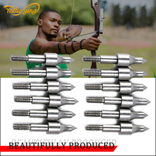 12pcs Field Point Arrow Heads 100 Grain Screw Insert Arrow Broadheads Arrows Archery Tips Practice Head цена